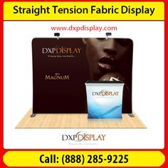 When you need a futuristic yet affordable marketing display material, go for Straight tension fabric display. Single or double sided printing, both are available for industrial and commercial usage. Made from 100% polyester fabric, it is durable and sturdy.
