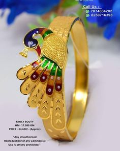 Gold Ring Designs, Gold Bangles Design, Gold Jewellery Design, Maharashtrian Jewellery, Peacock Jewelry, Bengali Wedding, Gold Rings Jewelry, Gold Work, Luxury