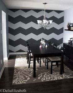 Love this chevron wall!