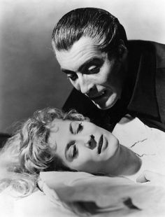 "Christopher Lee and Melissa Stribling, in ""Horror Of Dracula"" (1958)"
