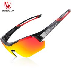 be638b0cf45 WHEEL UP 3 Lens UV400 Cycling Eyewear Men Women Waterproof Coating  Aerodynamic Bicycle Polarized Sunglasses MTB