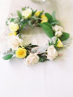 Rose Garland Wreath | photography by http://www.claryphoto.com | wedding planning by http://www.blushandwhim.com/ | floral design by http://www.fourfinches.com/