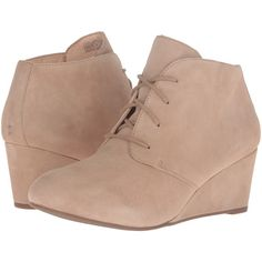 VIONIC Elevated Becca Wedge Lace-Up (Light Tan) Women's Wedge Shoes ($80) ❤ liked on Polyvore featuring shoes, boots, tan, short wedge boots, tan wedge boots, wedge bootie, lace up wedge boots and wedge heel ankle boots