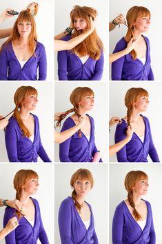 Meta hair hack: style mini braids into a fishtail braid.