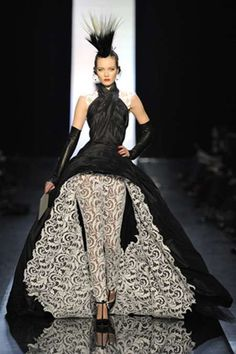 The Jean Paul Gaultier Spring 2011 Line Features Hot Hair and High Fashion #mohawk trendhunter.com
