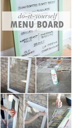 DIY Menu Board: A really fun and cost-effective way to add a little more personality