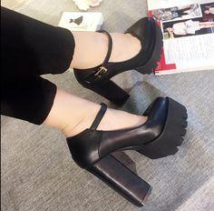 54afa6c87d5 Womens Chunky High Heels Platform Pumps Ankle Straps Platform Shoes Casual  X291  fashion  clothing