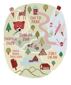 Poster / Lovely Illustrations / map illustration for Image Magazine.