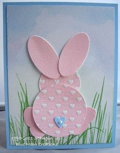 Easter bunny punched ~ 2 cute! Easy idea for kids to make too!