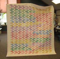 "Nancy Skebba's queen-sized quilt. ""Now and Later."