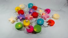 20 Moons and Stars String Lights Indoor/Outdoor, Multi-Color for Home Decoration #Unbranded