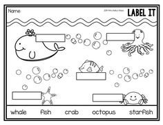 end of the year first grade word searches ocean word