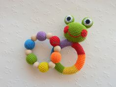 Frog+Baby+Toy+Rattle+Baby+teether+Set+of+2+from+MioLBoutique+by+DaWanda.com