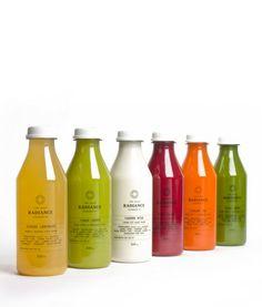 Radiance juice bottles.