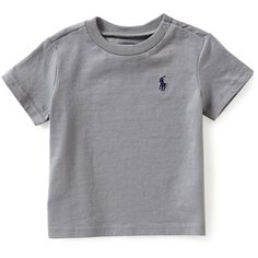Ralph Lauren Childrenswear 3-24 Months Crewneck Tee ($13) ❤ liked on Polyvore featuring tops, t-shirts, ralph lauren t shirts, crew-neck tee, crewneck t shirt, crew neck tee and crew t shirt