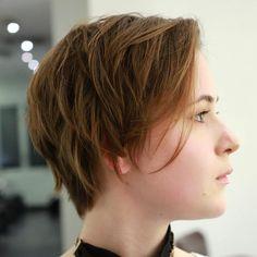 Short+Side+Parted+Choppy+Cut+For+Thin+Hair
