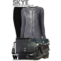 Designer Clothes, Shoes & Bags for Women Tv Show Outfits, Fandom Outfits, Cool Outfits, Fashion Outfits, Movie Outfits, Spy Outfit, Badass Outfit, Outfit Ideas, Comic Clothes