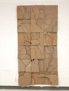 Penguins: Cardboard Relief Mural by on DeviantArt Sculpture Lessons, Sculpture Art, Wall Sculptures, Cardboard Sculpture, Cardboard Crafts, Cardboard Relief, 7 Arts, Ecole Art, Collaborative Art