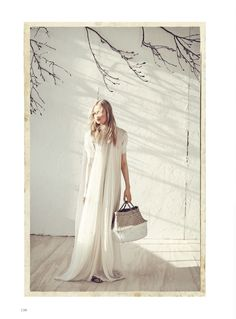 Leah Rodl   Harper's Bazaaar Germany   White Fashion Editorial