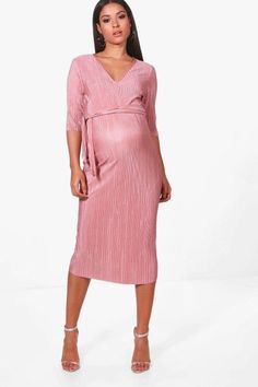 006d54822d5f Boohoo Maternity Hope Pleated Midi Dress Mink Size UK 16 rrp 20 DH180 MM 05  #fashion #clothing #shoes #accessories #womensclothing #dresses (ebay link)