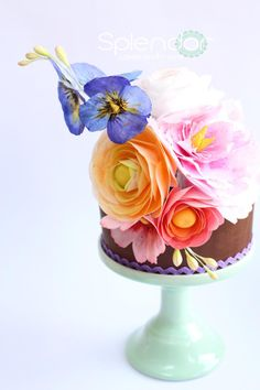 Wafer Paper Flowers by Splendor-Cakes and Wafer Paper Flowers, Wafer Paper Cake, Sugar Flowers, Cake Flowers, Mini Tortillas, Cupcakes, Cupcake Cakes, Fondant Cakes, Mini Cakes
