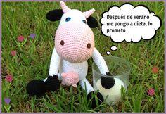 Amigurumi Vaca - Patrón Gratis en Español http://artedetei.blogspot.ch/search/label/Patrones
