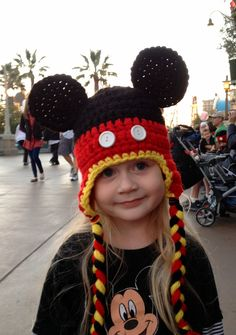 Mickey hat. Haley would so wear this!