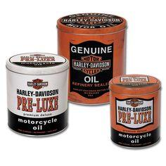 Harley-Davidson® Oil Can Storage Tins (Set of 3)