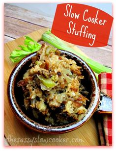 Slow Cooker Stuffing Recipe! It's so good and EASY!