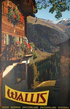 Grimentz, Valais - Wallis, by Schellenberg Hans Heinrich / 1959