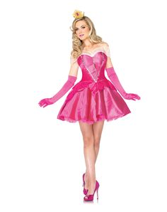 Disney Princess Sleeping Beauty Adult Women's Costume exclusively at Spirit Halloween - Avoid evil fairy god mothers at all costs when you wear this officially licensed Disney Princess Sleeping Beauty Adult Womens Costume! You wouldn't want to sleep through the Halloween festivity when you could be showing off your gifts of beauty and song all night for only $59.99.