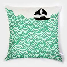 seafoam colored sea pillow.