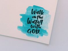 """""""Why did you doubt?"""" Jesus asked Peter. God wants us not to be discouraged when troubles arise. He wants us to be strong and walk on the water with Him. So take that step. That that leap. Bring your. Psalms Quotes, Bible Qoutes, Faith Quotes, Bible Verses, Scriptures, Give Me Jesus, Jesus Is Lord, Adonai Elohim, Meaningful Quotes"""