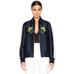 Stella McCartney Lorinda Botanical Embroidery Jacket ($2,545) ❤ liked on Polyvore featuring outerwear, jackets, embroidery jackets, embroidered jacket, flower print jacket, stella mccartney and floral embroidered jacket