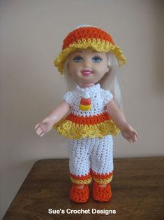 Crochet Kelly Doll Clothes  $$$