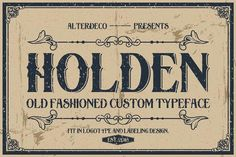 10 Fantastic High Quality Old Fashioned Vintage Fonts - only $17! - MightyDeals