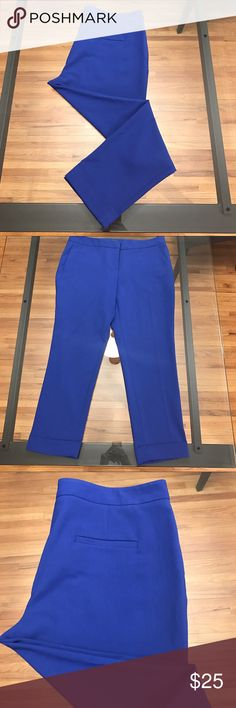 """Vince Camuto Blue Straight Leg Ankle Pants Vince Camuto blue straight leg ankle pants feature 2"""" cuff on both legs. Inseam approx 27"""". Material: 63% polyester, 33% rayon, 4% spandex. Only worn a few times! Vince Camuto Pants"""