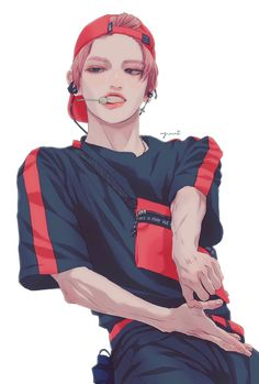This looks like Taeyong from NCT Kpop Fanart, Pretty Art, Cute Art, Anime Manga, Anime Art, Kpop Drawings, Estilo Anime, Anime Kunst, Nct Taeyong