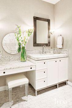 White Glamorous Bathroom
