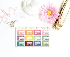 You will receive a (approx.) 7 x 4 sticker sheet to use in your Erin Condren, Plum planner, or any planners you are currently using! Exactly as pictures above! Each stickers measures approx. 1.5 x 0.9 (or half box for Erin Condren planners) You can check out other functional stickers or weekly kits here: https://www.etsy.com/ie/shop/PrettyCraftyStickers **************************************  FEATURES: The planner stickers are high quality, printed with an industrial printer for best results…