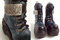 90's Destroy Platform Leather Buckle Chunky by FeelingVagueVintage, $348.00