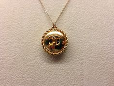 Gold Chanel Button Necklace | Brooks Collection