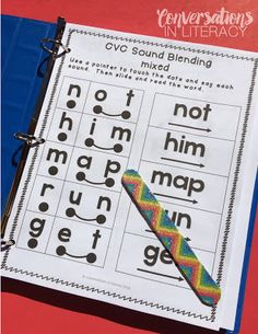 This is a great intervention binder with visual cues to help students chunk cvc sounds!