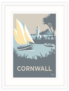 Cornwall Framed Print at Whistlefish - handpicked contemporary & traditional art that is high quality & affordable. Available online & in store