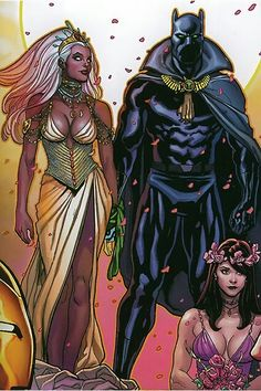 It's rare to see healthy black relationships in popular culture & even rarer still to see them in comics. The marriage of Storm and Black Panther was beautiful to see. Unfortunately popular culture won out (again) and their marriage failed after the Submariner  (Prince Namor) destroyed most of Wakanda.