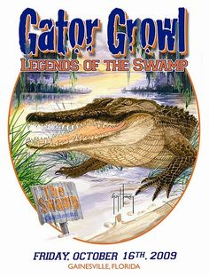 Guy Harvey Gator Growl T-Shirt, that I still rather want Gator Logo, Gator Football, Florida Gators Football, College Football, College Sport, Florida Gators College, Florida Sunshine, Swim Team, Water Slides