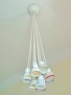 Teacup Chandelier (would love to make this for my kitchen)