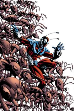 Eric O'Grady, the current Ant-Man.  By Phil Hester.