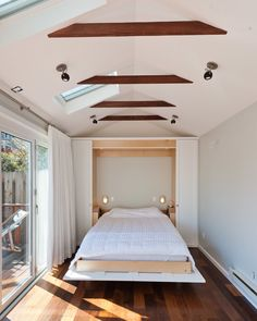 Murphy Beds at Ikea Contemporary Bedroom with Deck