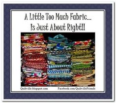 A little too much fabric...Is just about RIGHT!!